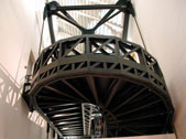 Rampa elicoidale in struttura d'acciaio di Giovanni Spalla dopo il restauro del 199