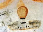 Particolare della mongolfiera presente nella Cella degli 'artisti'