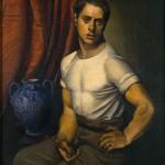 Achille Funi, autoritratto con brocca blu, 1920-Studio d'Arte Nicoletta Colombo, Milano